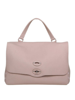 ZANELLATO: totes bags - Postina M Pura pink leather bag