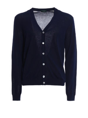 Zanone: cardigans - Light cotton dark blue cardigan