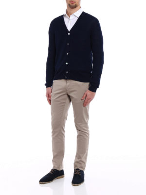 Zanone: cardigans online - Light cotton dark blue cardigan
