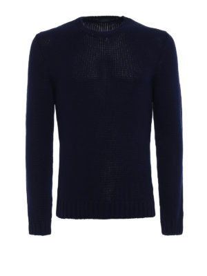 Zanone: crew necks - Heavy cotton blue sweater