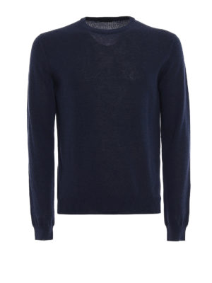 Zanone: crew necks - Light cotton blue sweater