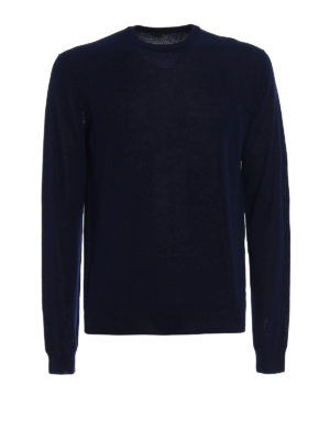 Zanone: crew necks - Light cotton dark blue sweater