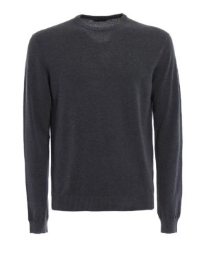Zanone: crew necks - Light cotton grey sweater