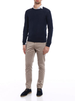 Zanone: crew necks online - Light cotton blue sweater