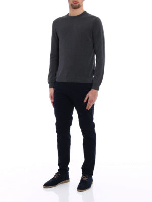 Zanone: crew necks online - Light cotton grey sweater