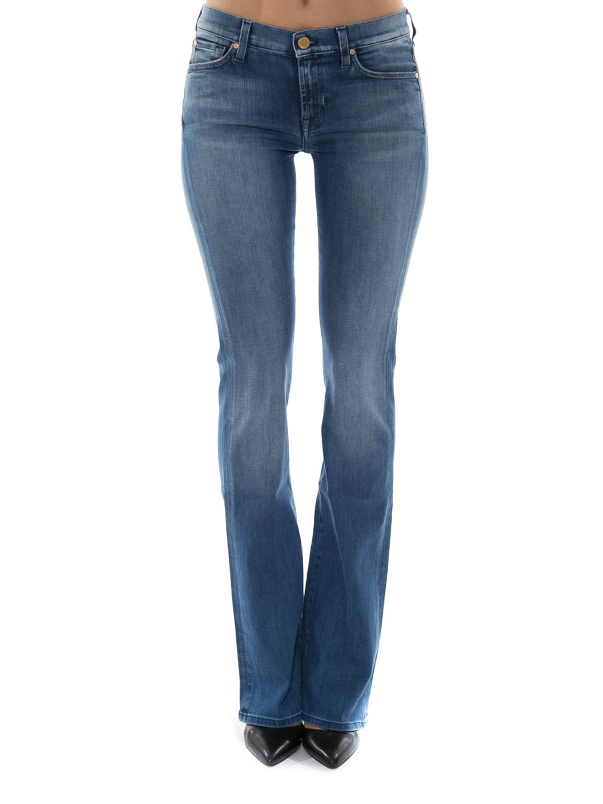 skinny flared jeans by 7 for all mankind bootcut jeans ikrix. Black Bedroom Furniture Sets. Home Design Ideas