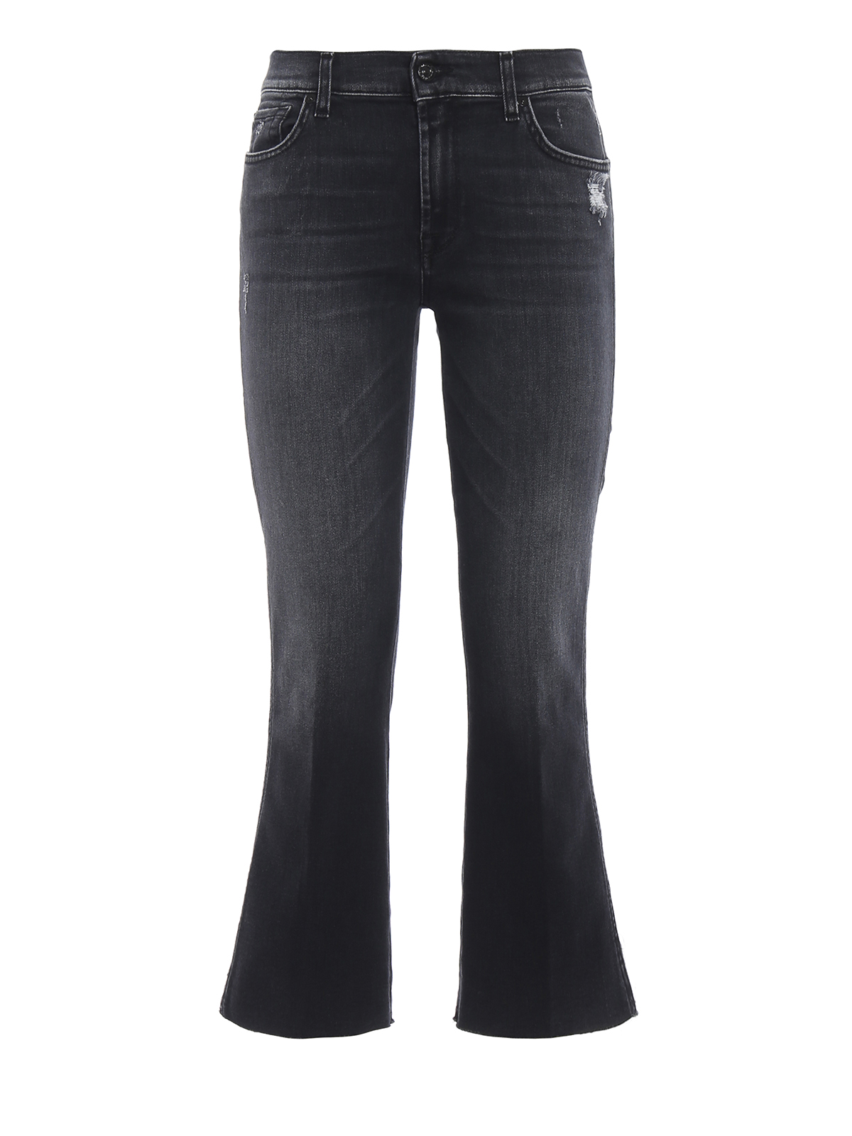 7 For All Mankind Jeans Cropped Boot a taglio vivo jeans