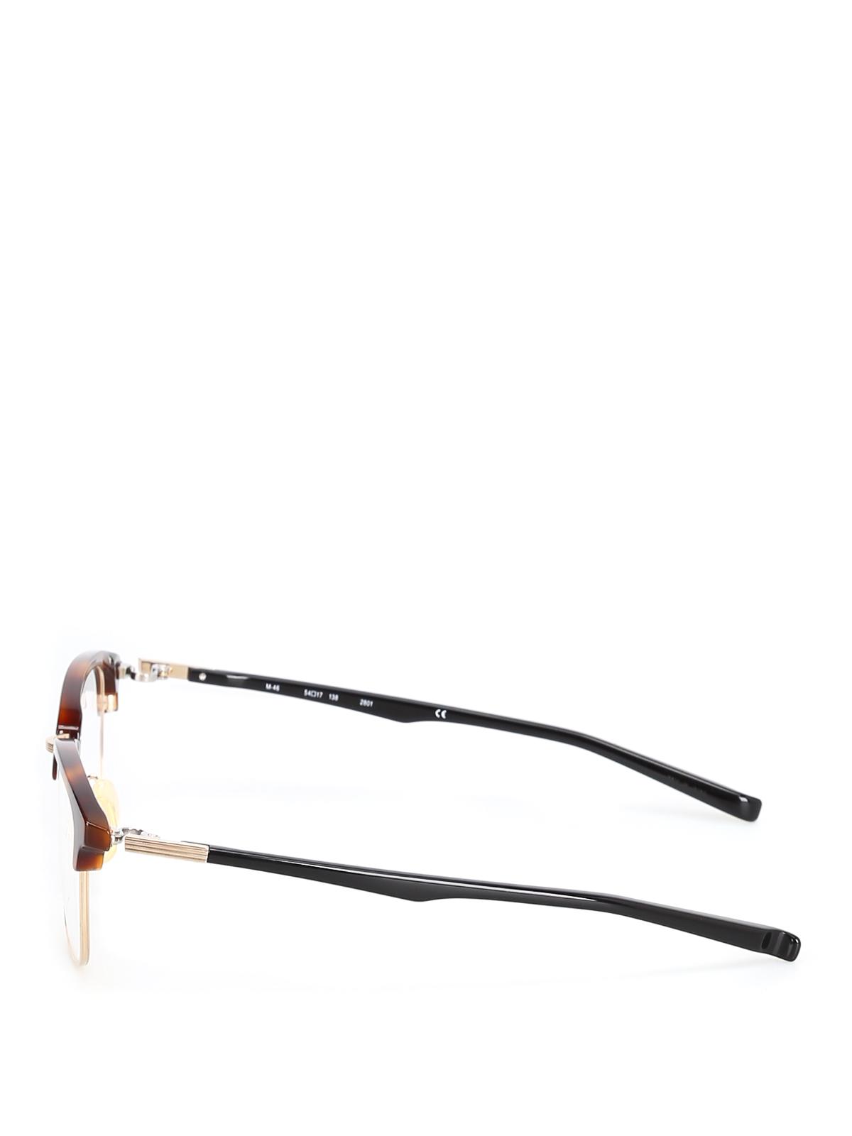 fe678ddf06 999.9 four nines - Half frame tortoise eyeglasses - glasses - M-462801