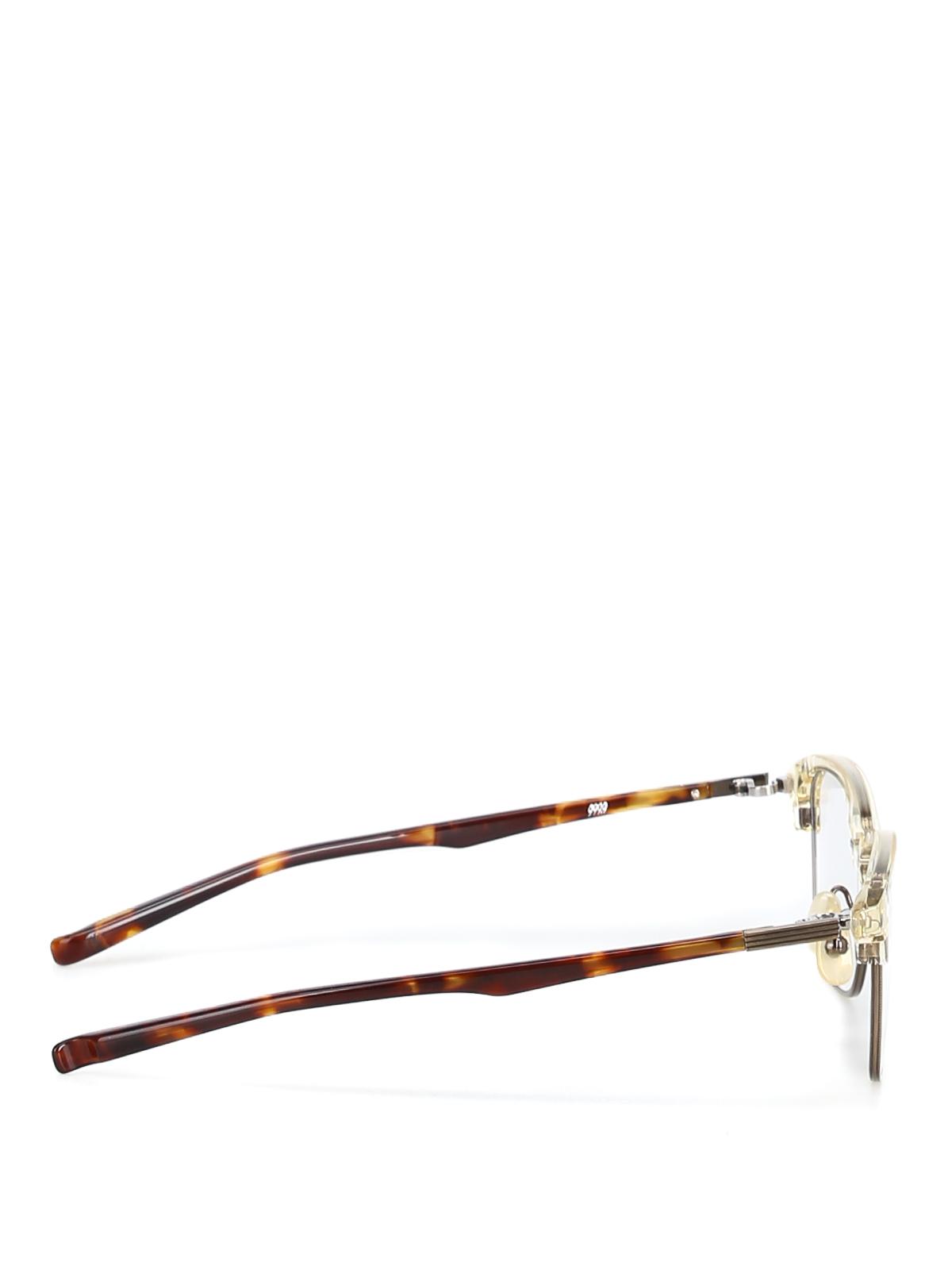 41d9bb7897 999.9 FOUR NINES  Glasses online - Metal half frame tortoise eyeglasses