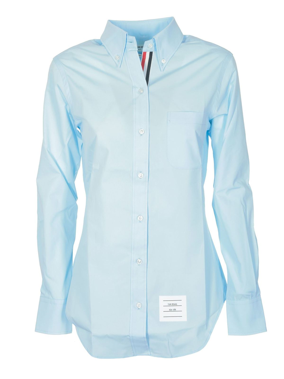 Thom Browne BUTTON-DOWN SHIRT IN LIGHT BLUE