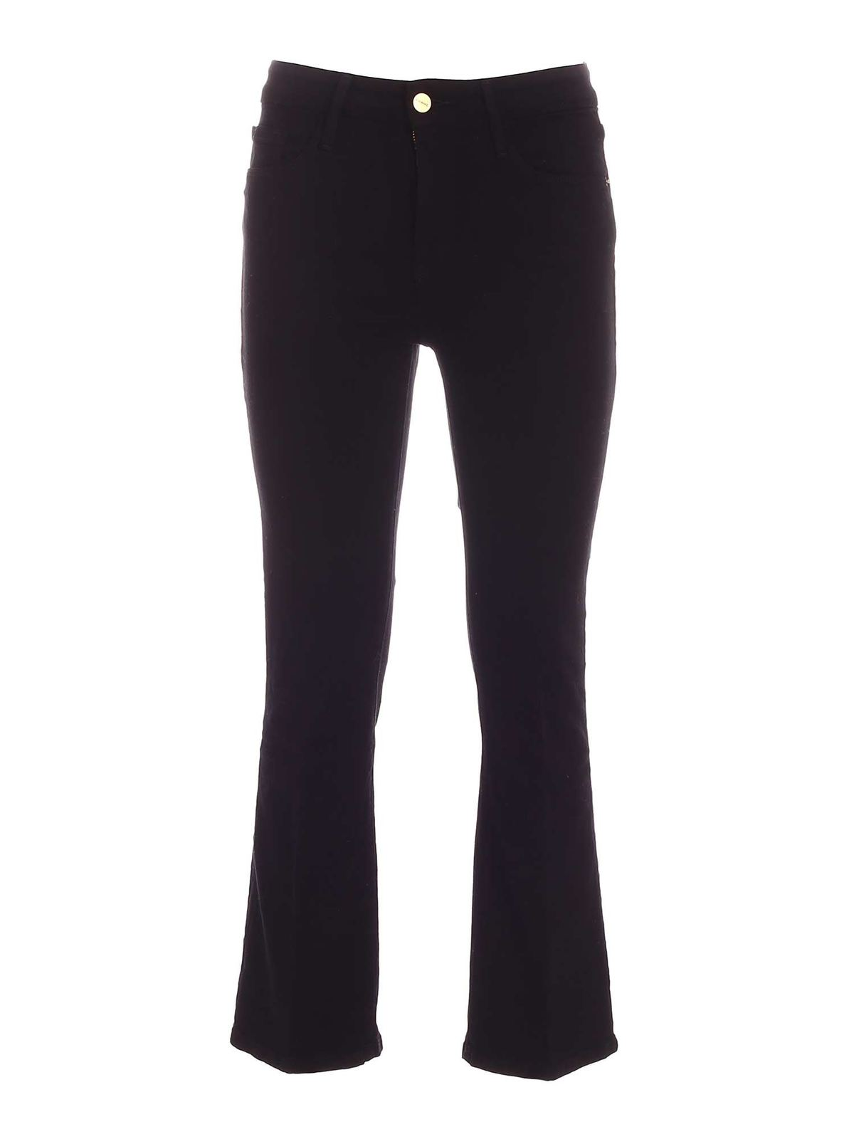 Frame LE CROP MINI BOOT JEANS IN BLACK