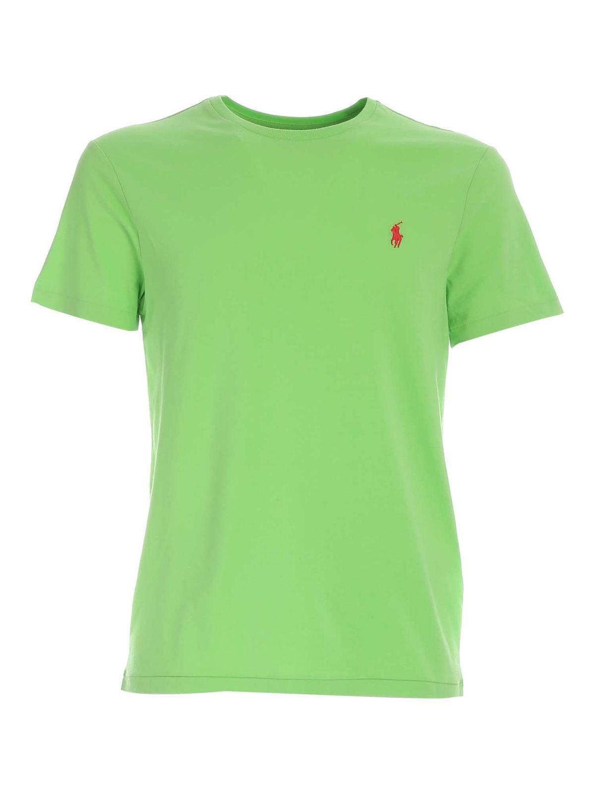 Polo Ralph Lauren RED LOGO T-SHIRT IN GREEN