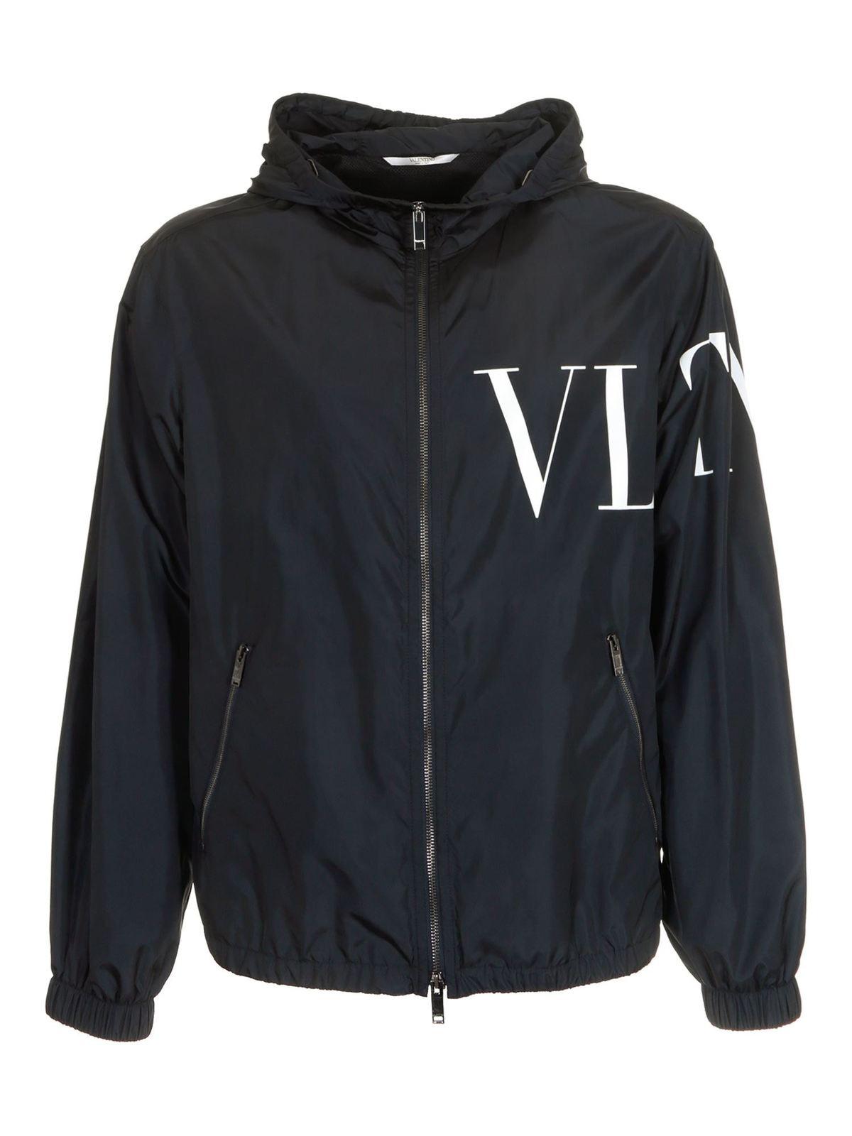Valentino VLTN JACKET IN BLUE AND WHITE
