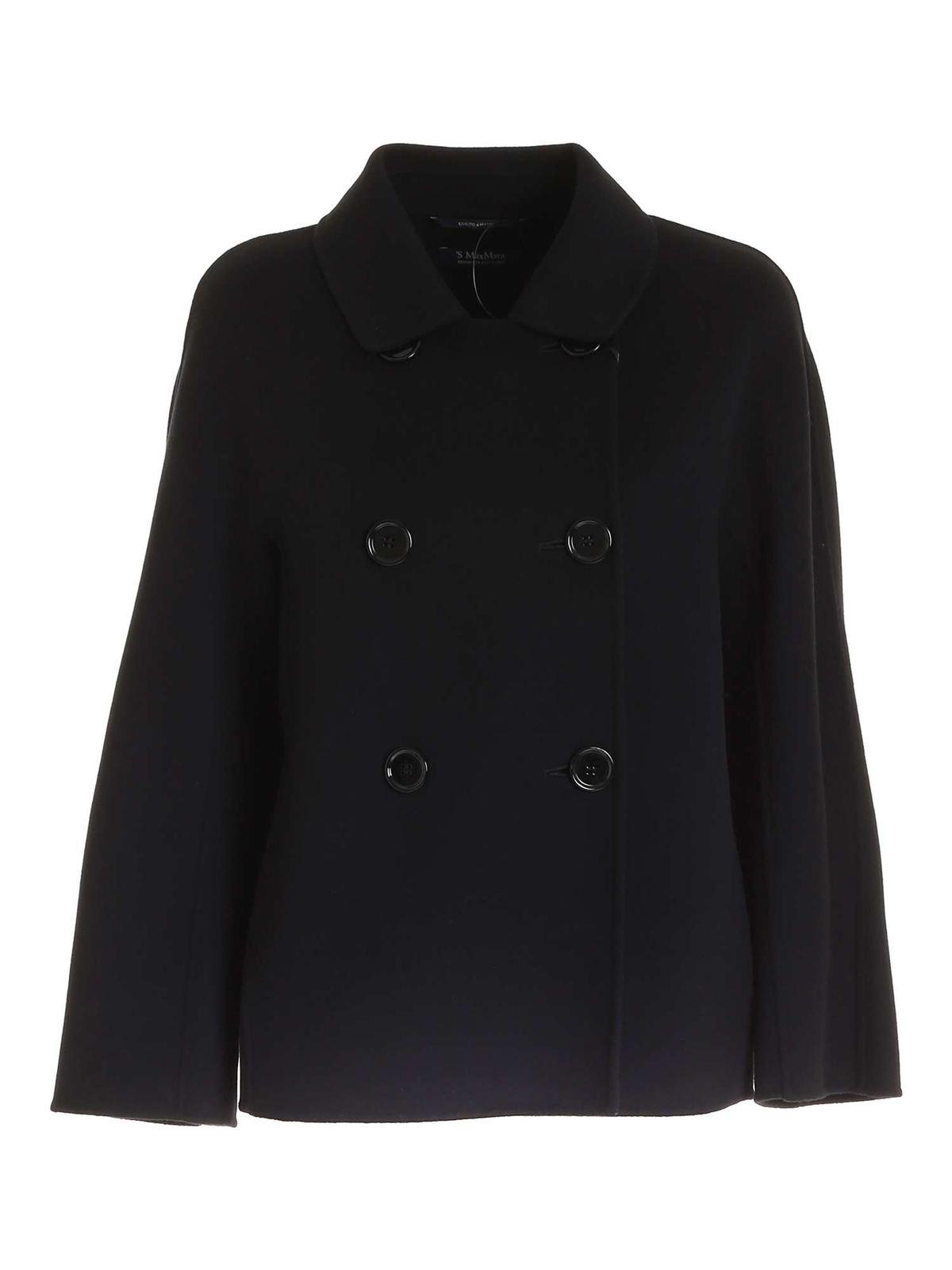 Max Mara Coats DINA SHORT COAT IN BLACK