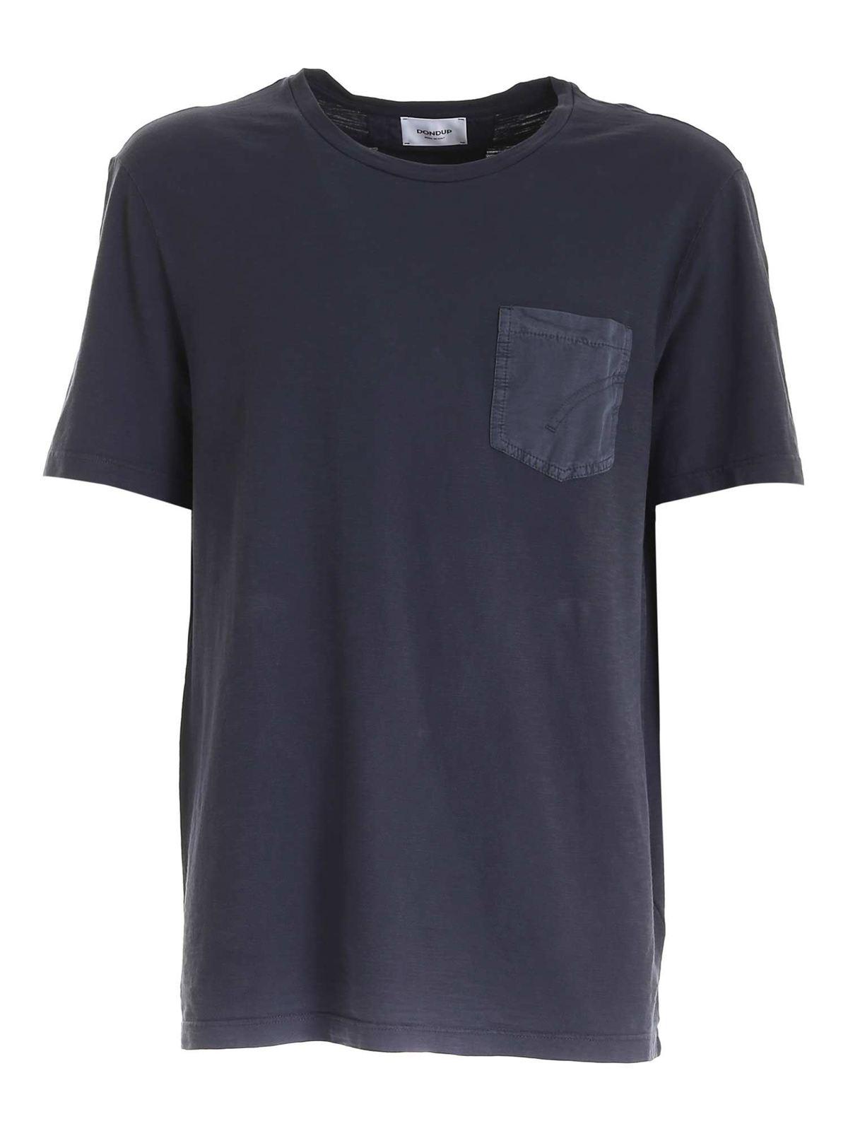 Dondup POCKET T-SHIRT IN BLUE