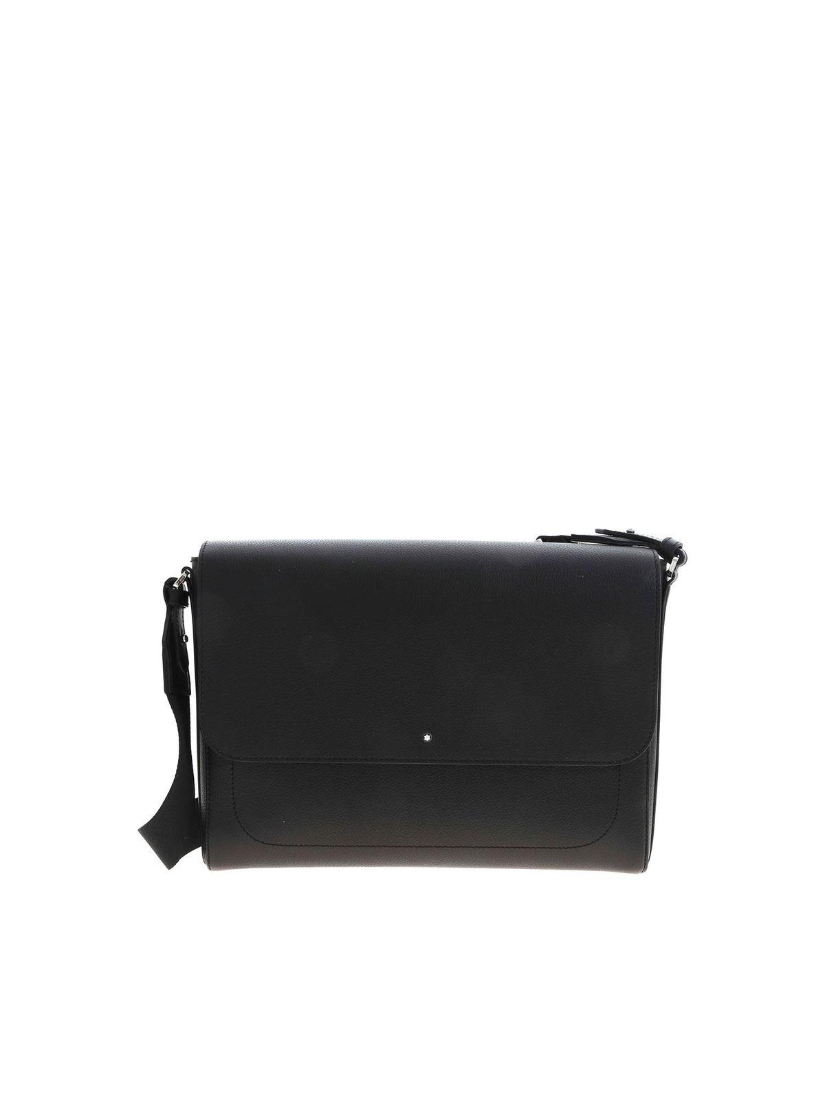 Montblanc Leathers MESSENGER CROSSBODY BAG IN BLACK