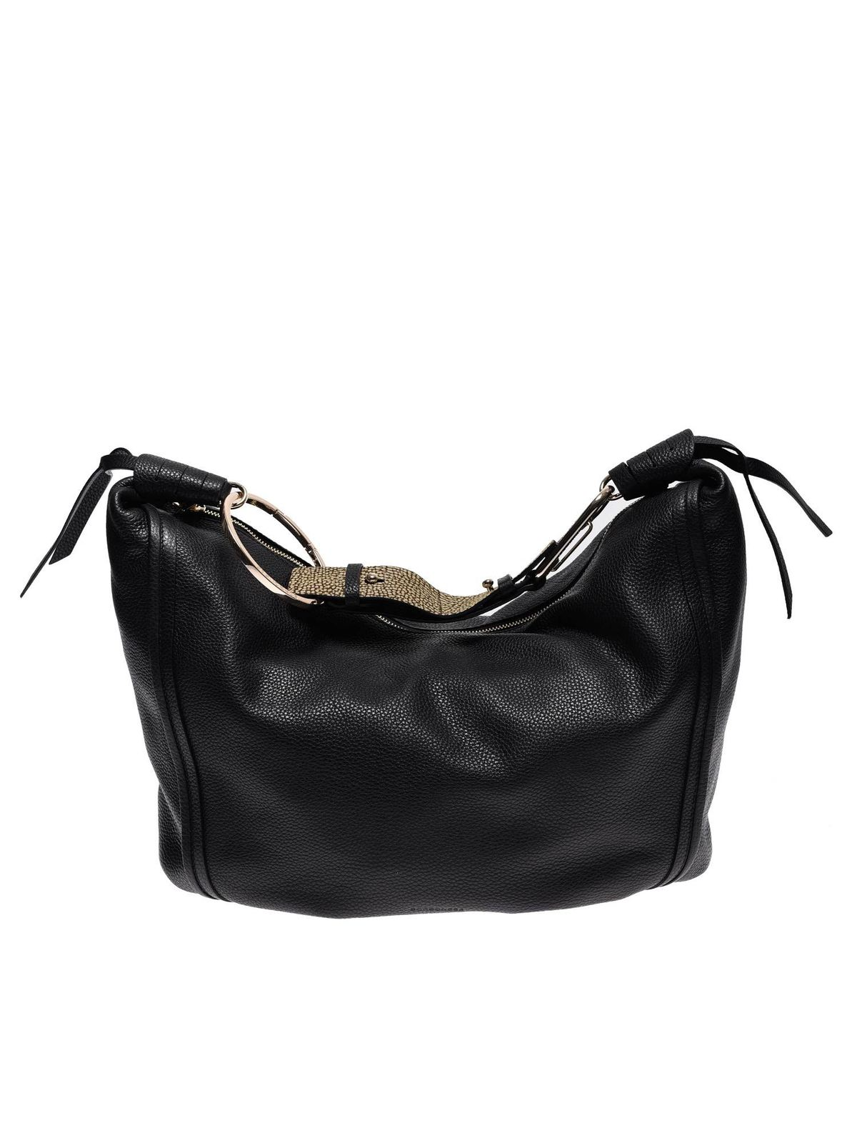 Borbonese LARGE ORBIT BAG IN BLACK