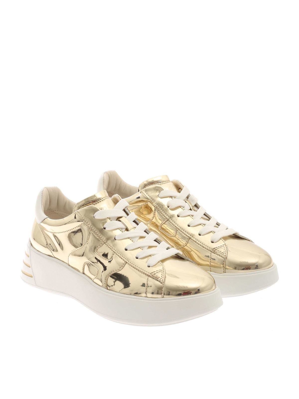 Trainers Hogan - Rebel H564 sneakers in gold color ...