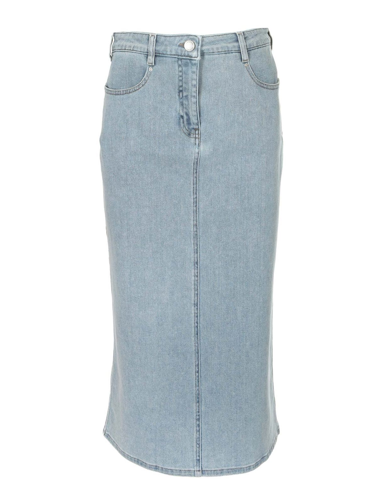 Fabiana Filippi DENIM SKIRT IN LIGHT BLUE