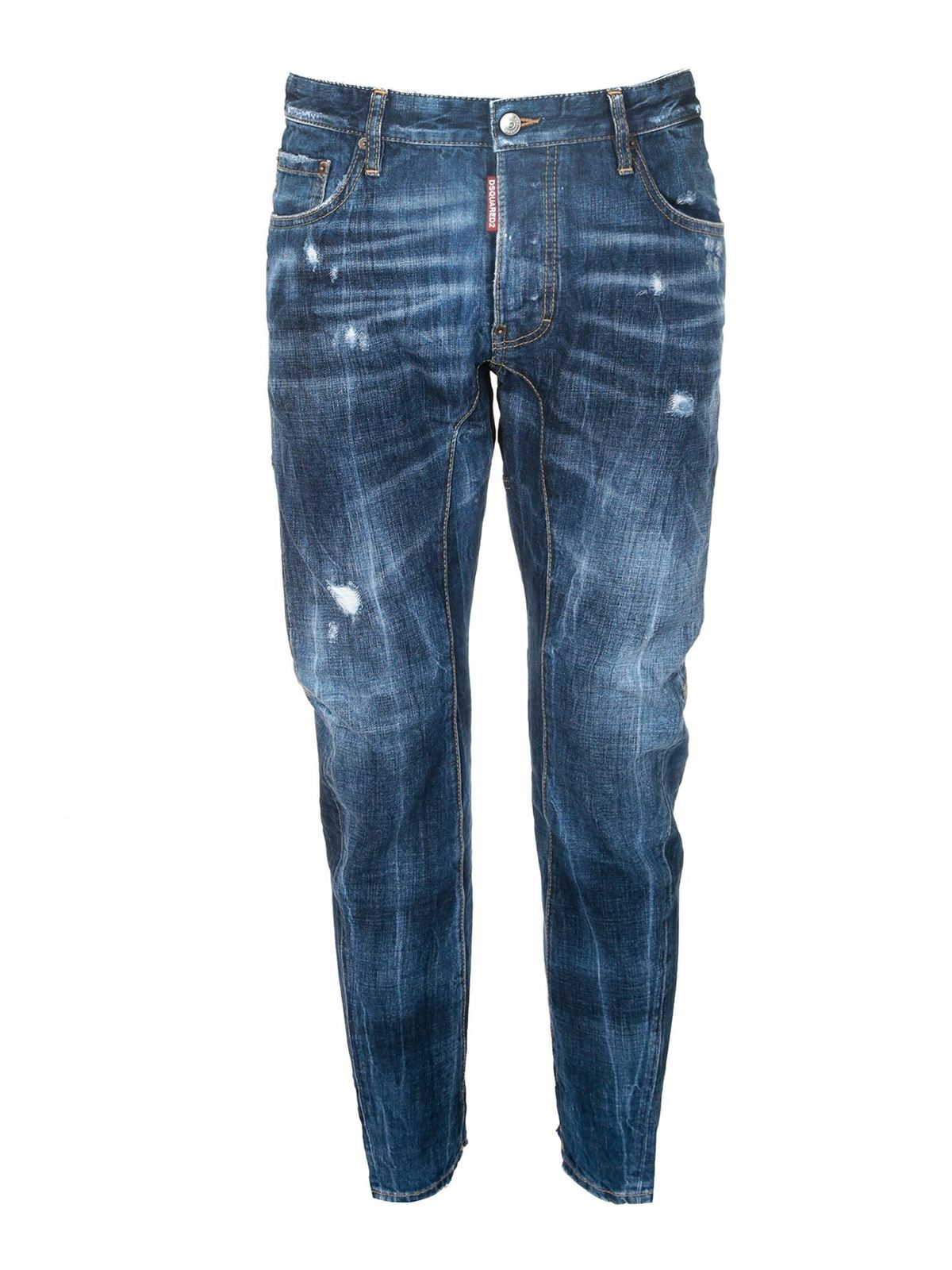 Dsquared2 TIDY BIKER JEANS IN BLUE