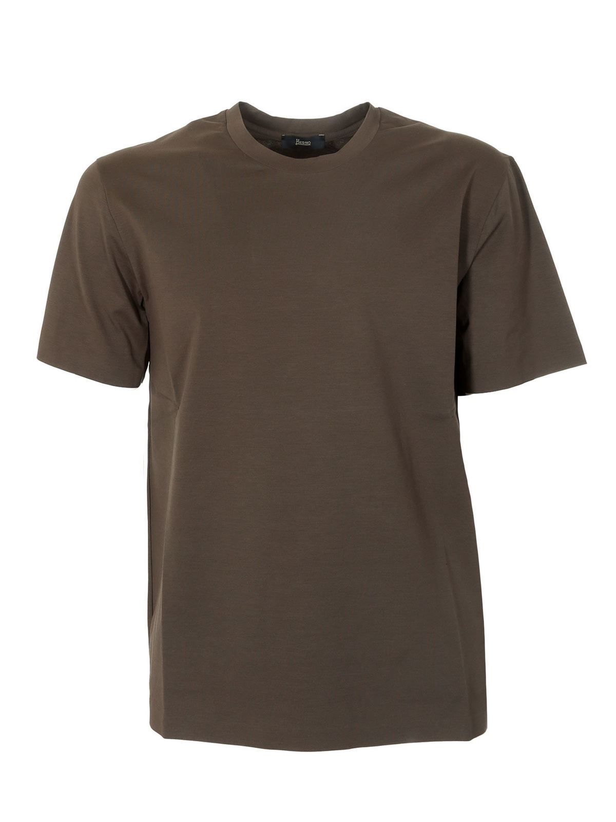 Herno Cottons BASIC T-SHIRT IN GREEN