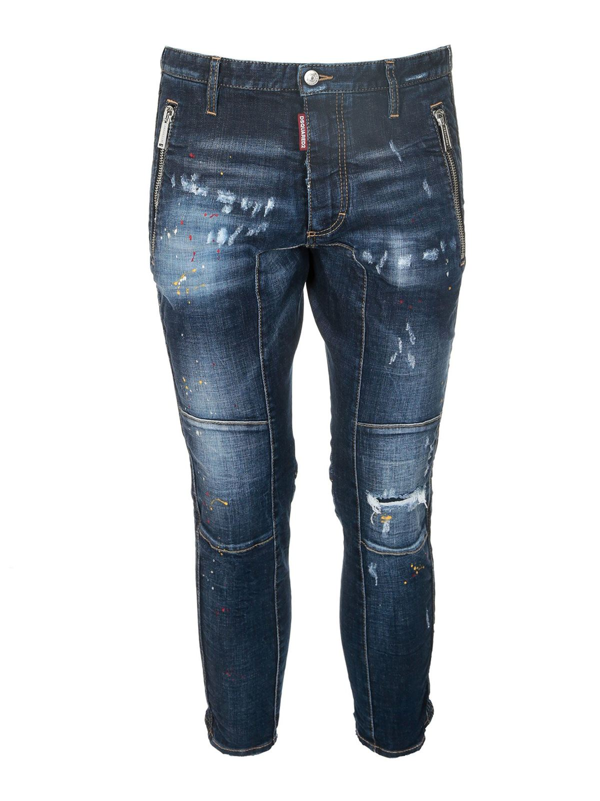 Dsquared2 SEXY BIKER JEANS IN BLUE