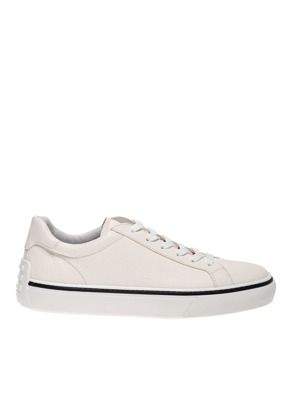 Tod's EMBOSSED LOGO SNEAKERS IN WHITE