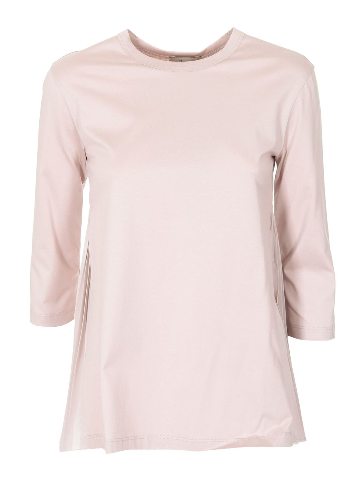 Herno THREE-QUARTER SLEEVE T-SHIRT IN PINK