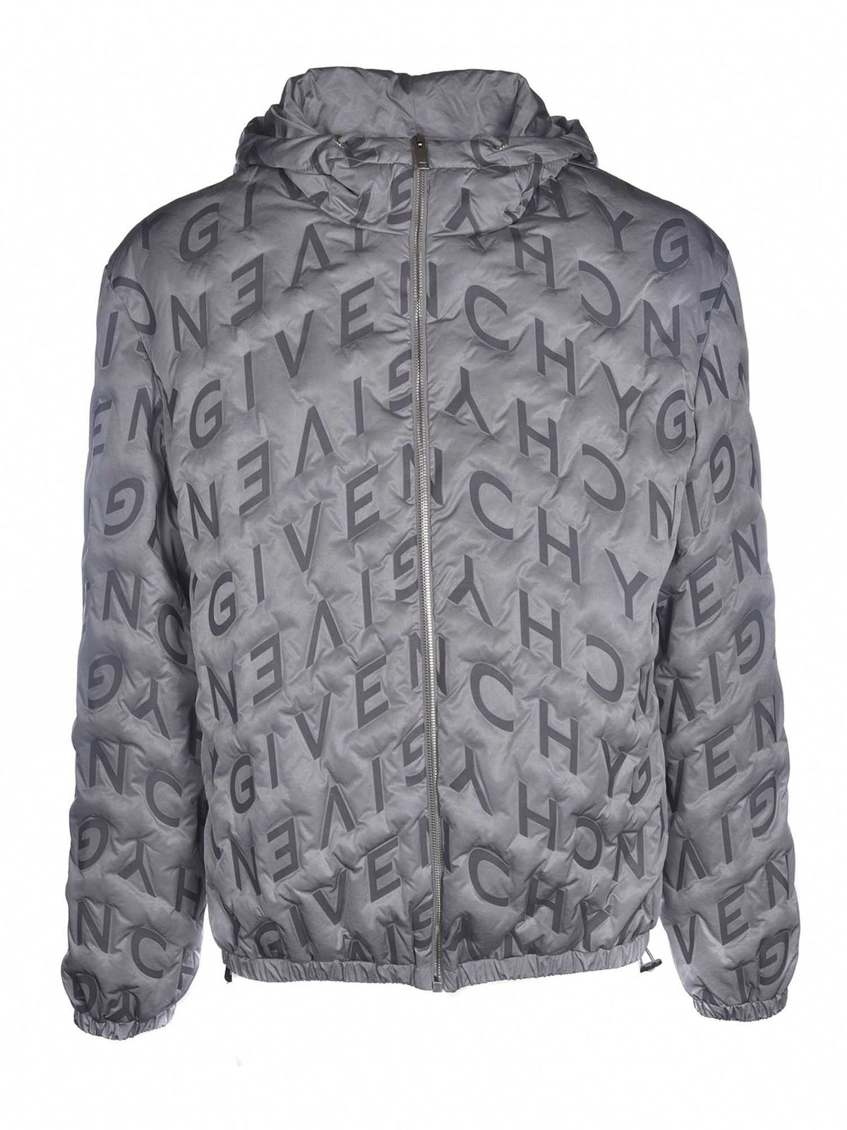 Givenchy THERMO QUILTED WINDBREAKER IN SILVER