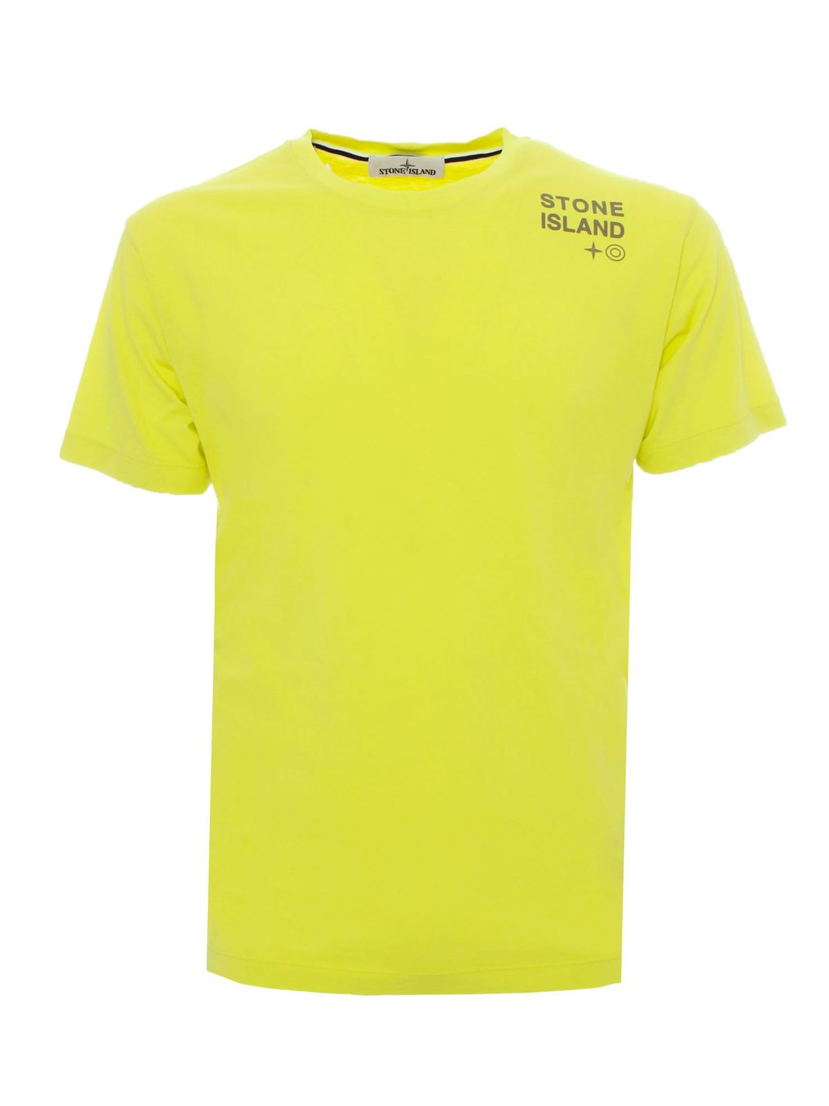 Stone Island Cottons LOGO LETTERING T-SHIRT IN YELLOW