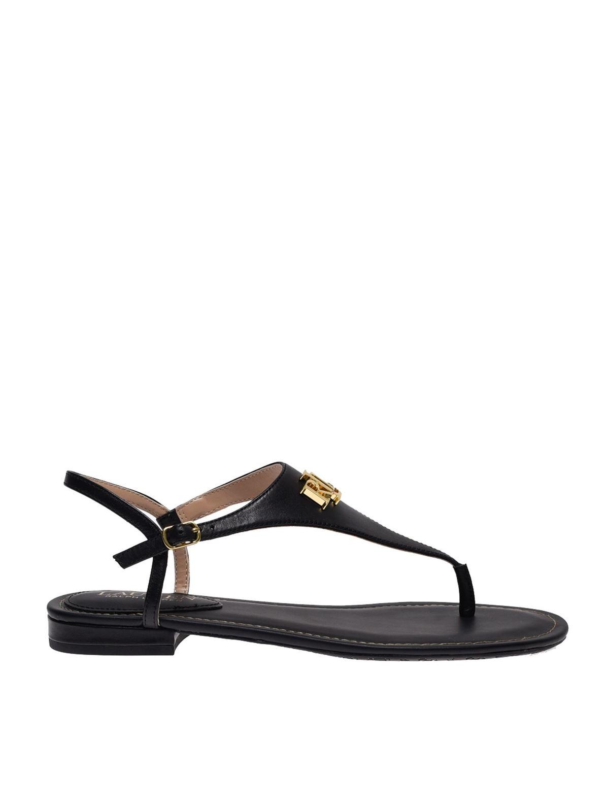 Lauren Ralph Lauren Ellington Sandals In Black
