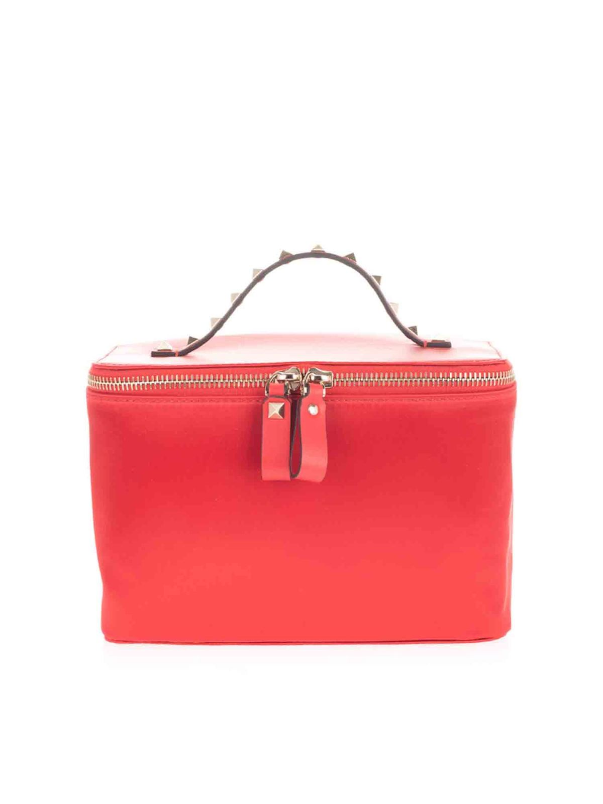 Valentino ROCKSTUD BEAUTY CASE IN RED