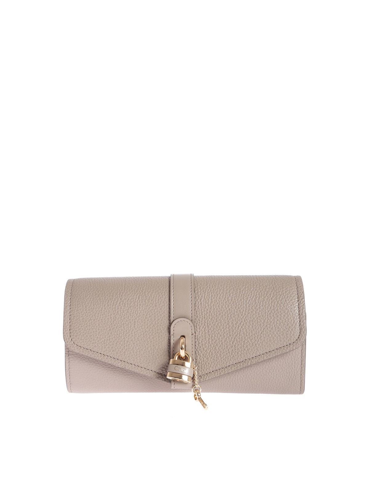 Chloé ABY CONTINENTAL WALLET IN GREY