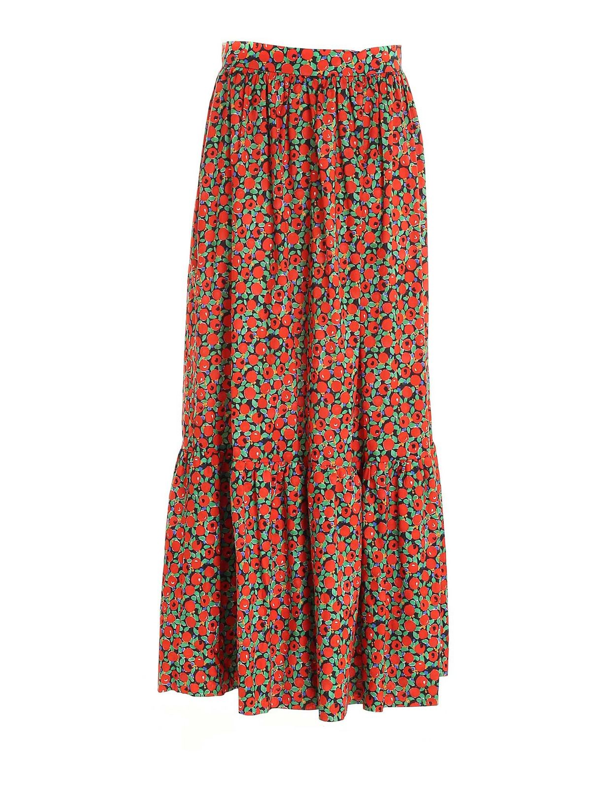 L'autre Chose Maxi skirts TOMATO PRINT LONG SKIRT IN RED