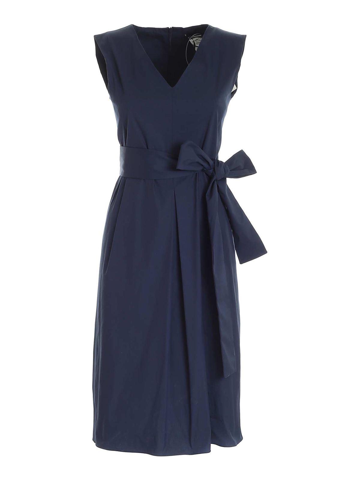 Max Mara Cottons ESTREMO DRESS IN BLUE