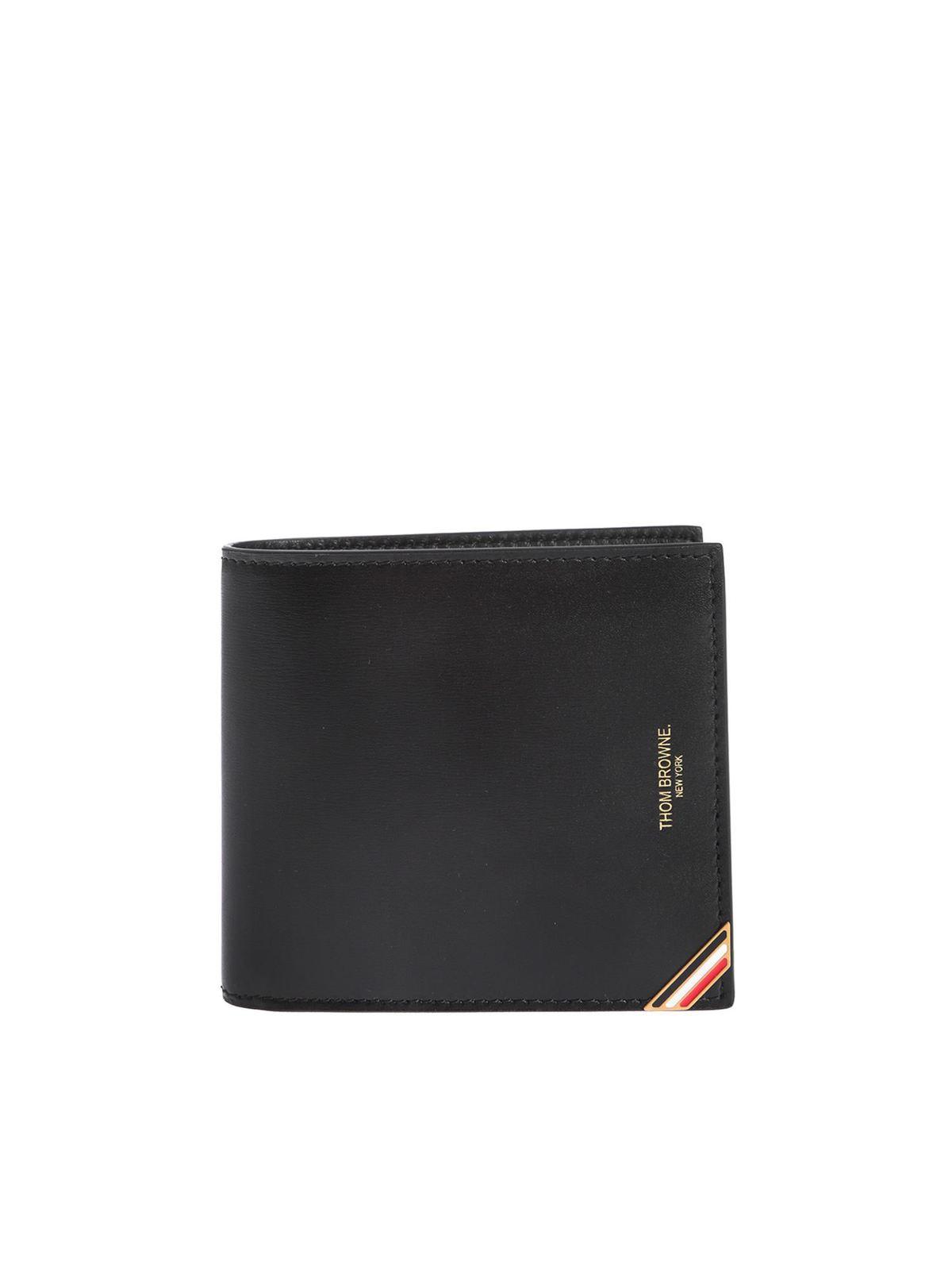 Thom Browne BIFOLD WALLET IN BLACK