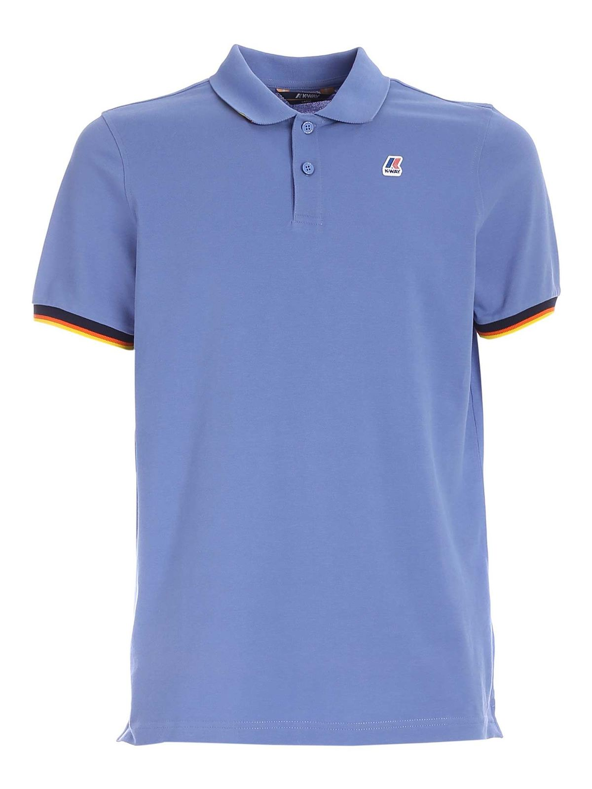 K-Way Cottons VINCENT POLO SHIRT IN LIGHT BLUE