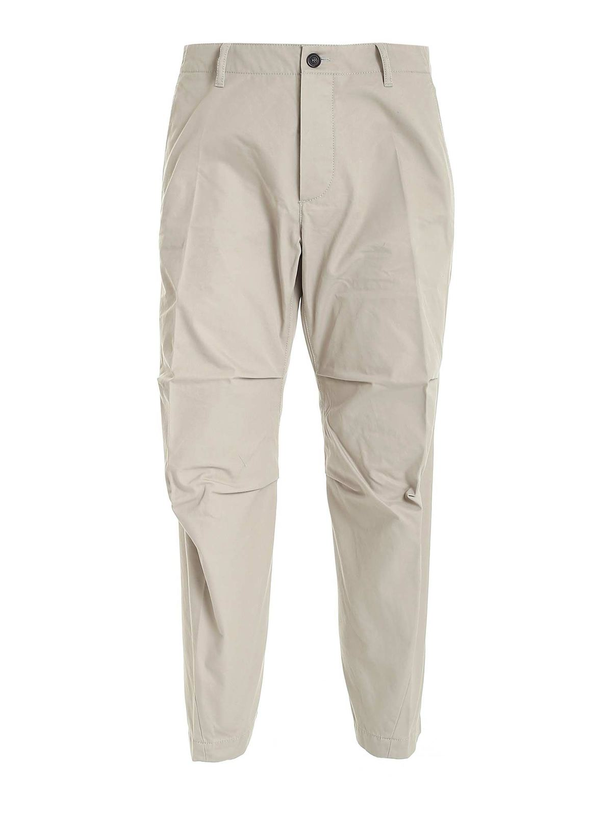 Dsquared2 Skipper Fit Chino Pants In Dove Grey Color In Beige
