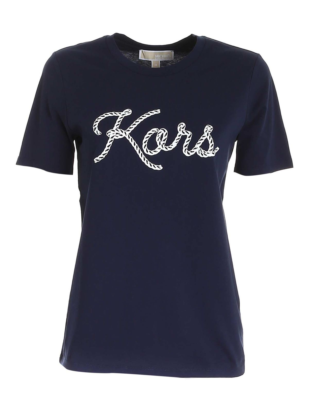 Michael Kors T-shirts KORS PRINT T-SHIRT IN BLUE