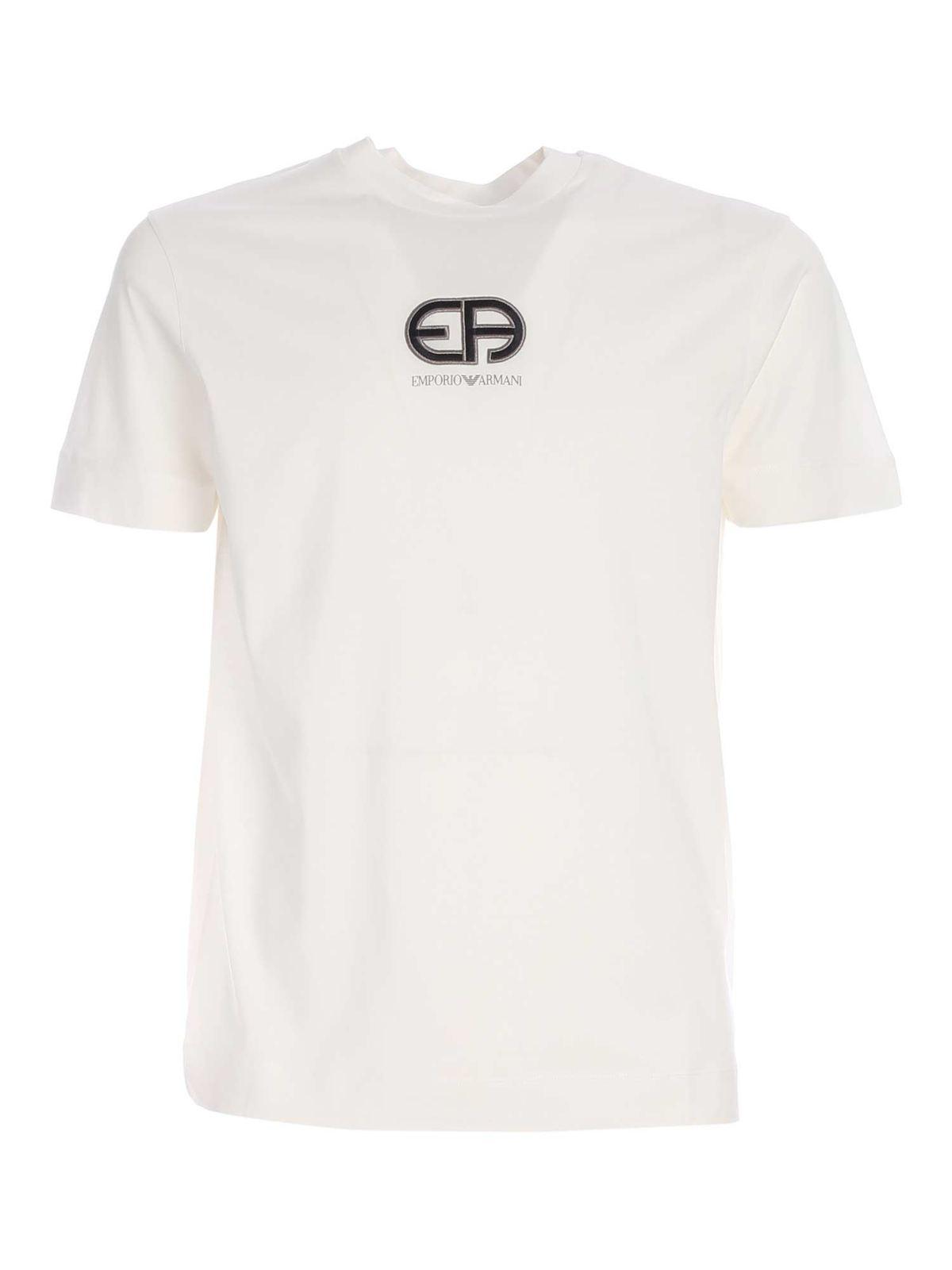 Emporio Armani EA T-SHIRT IN WHITE