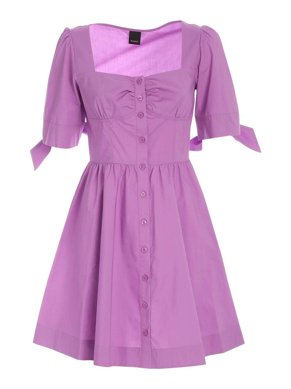 Pinko ASSOLTO DRESS IN PURPLE