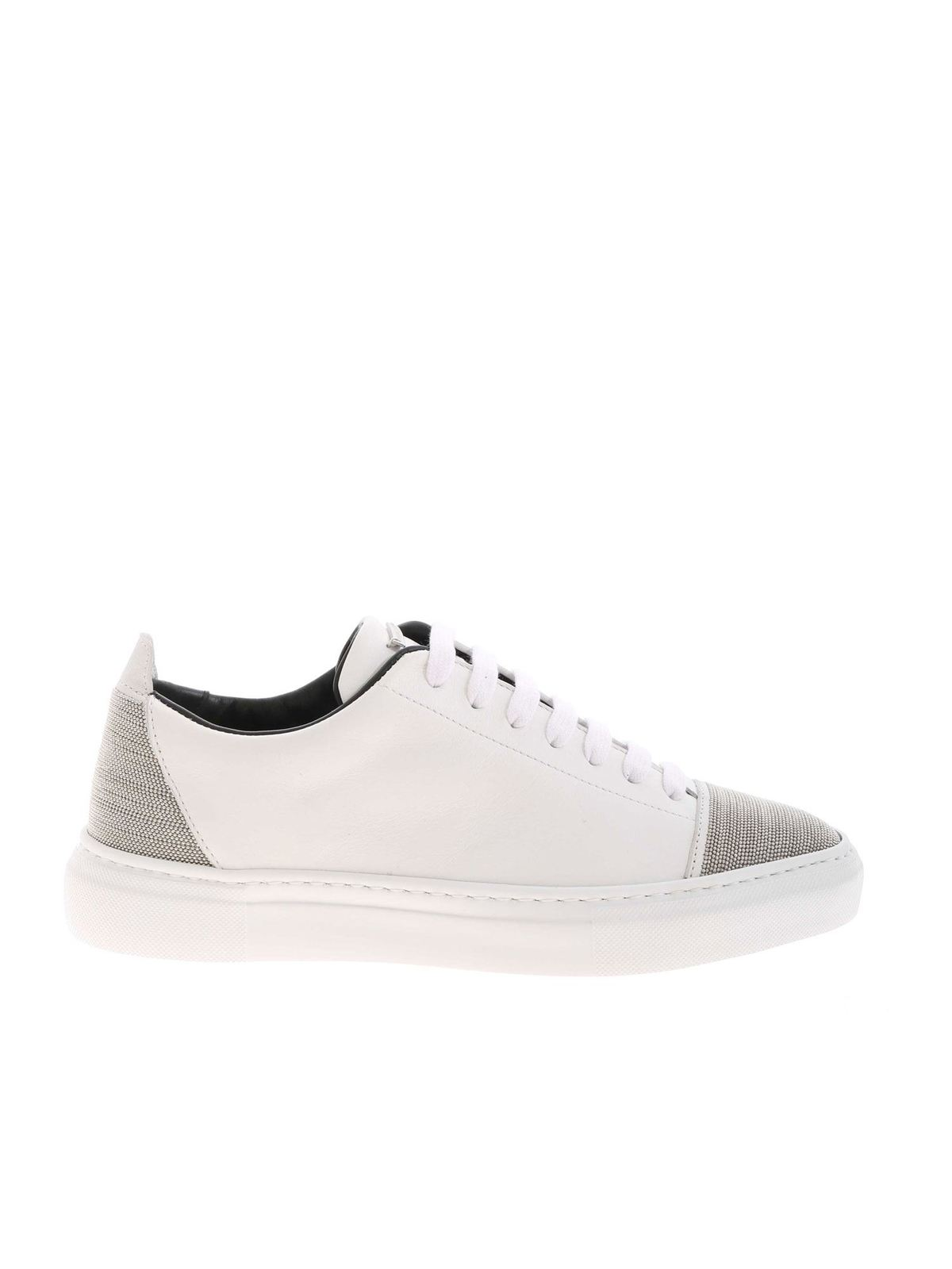 Fabiana Filippi MICRO BEADS SNEAKERS IN WHITE