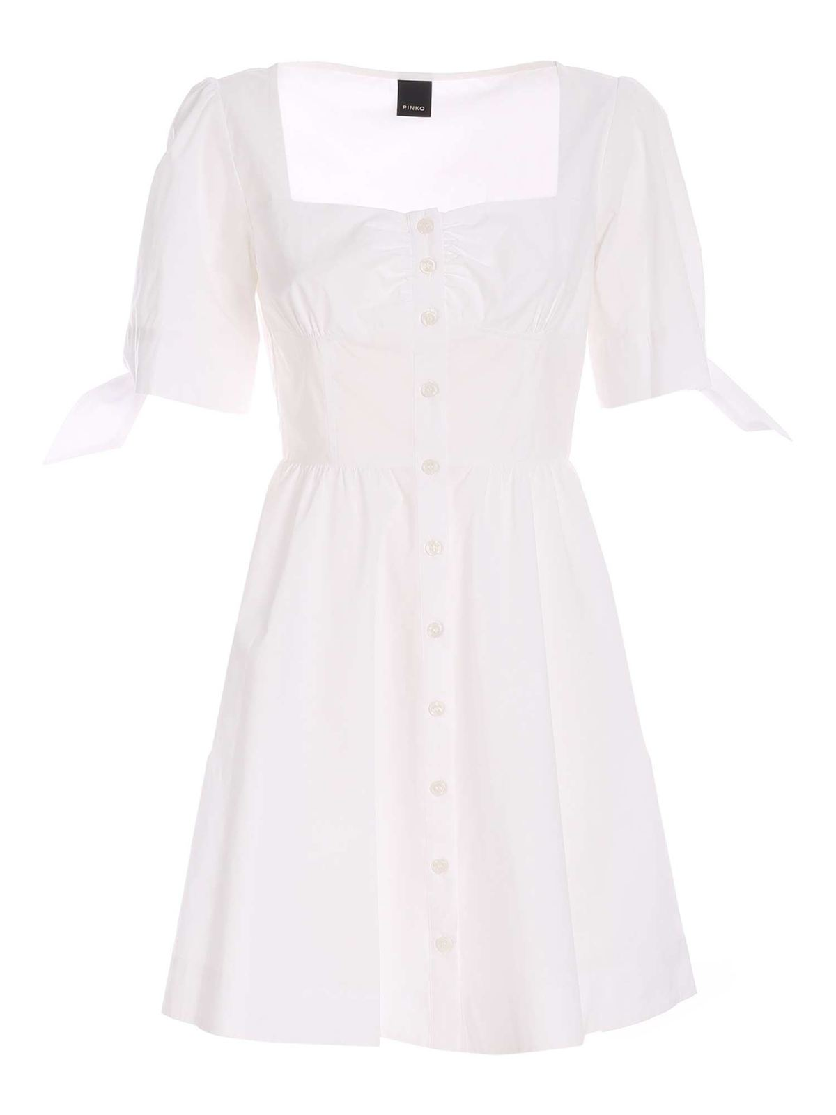 Pinko Cottons ASSOLTO DRESS IN WHITE