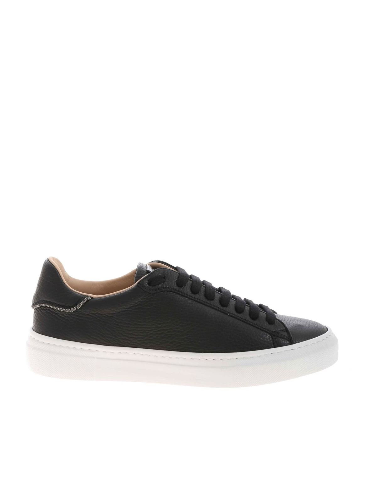 Fabiana Filippi MICRO BEADS SNEAKERS IN BLACK