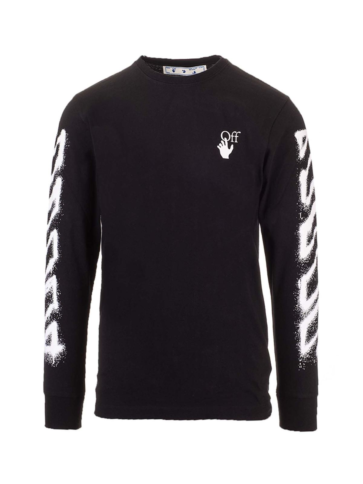 Off-White Arrow printed t-shirt in black and white