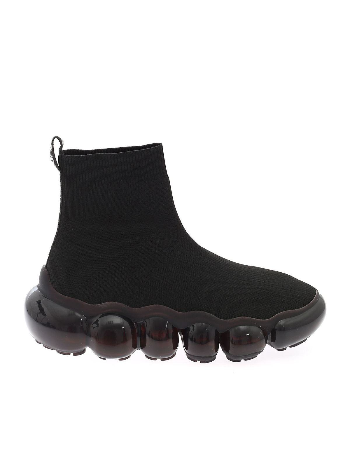 Versace Jeans Couture Shoes KNITTED SNEAKERS IN BLACK
