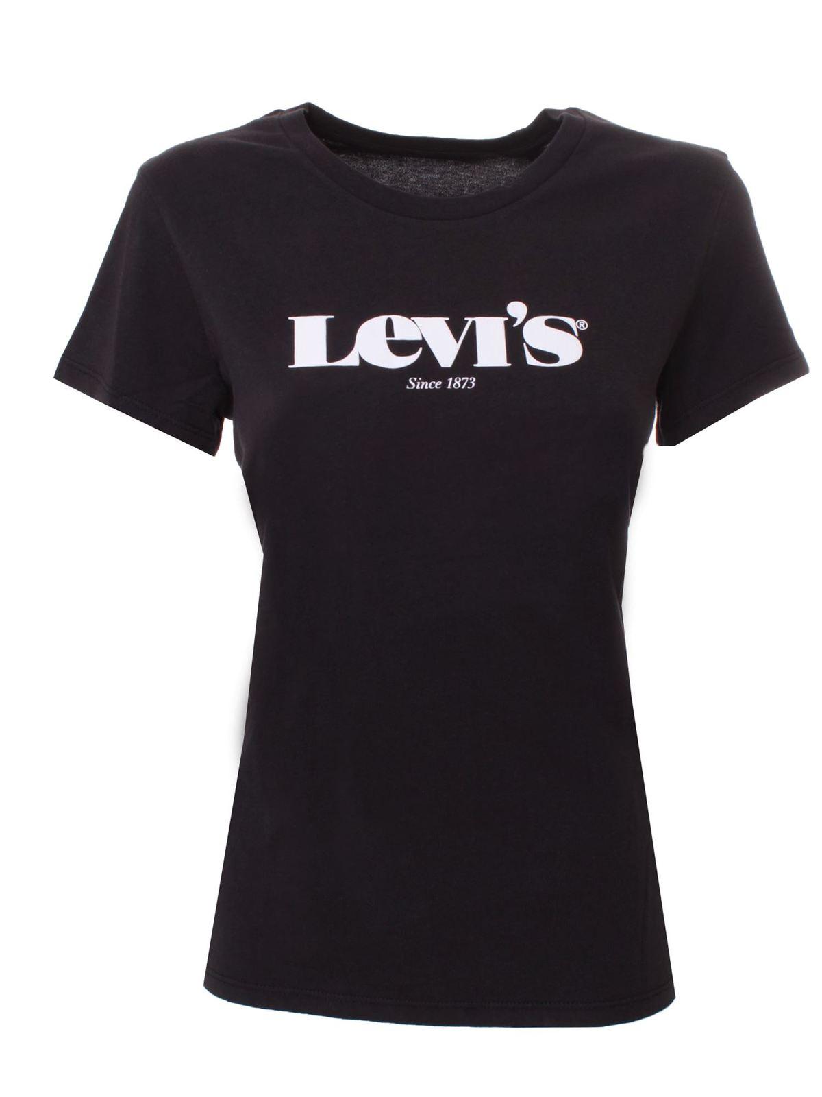 Levi's WHITE LOGO T-SHIRT IN BLACK