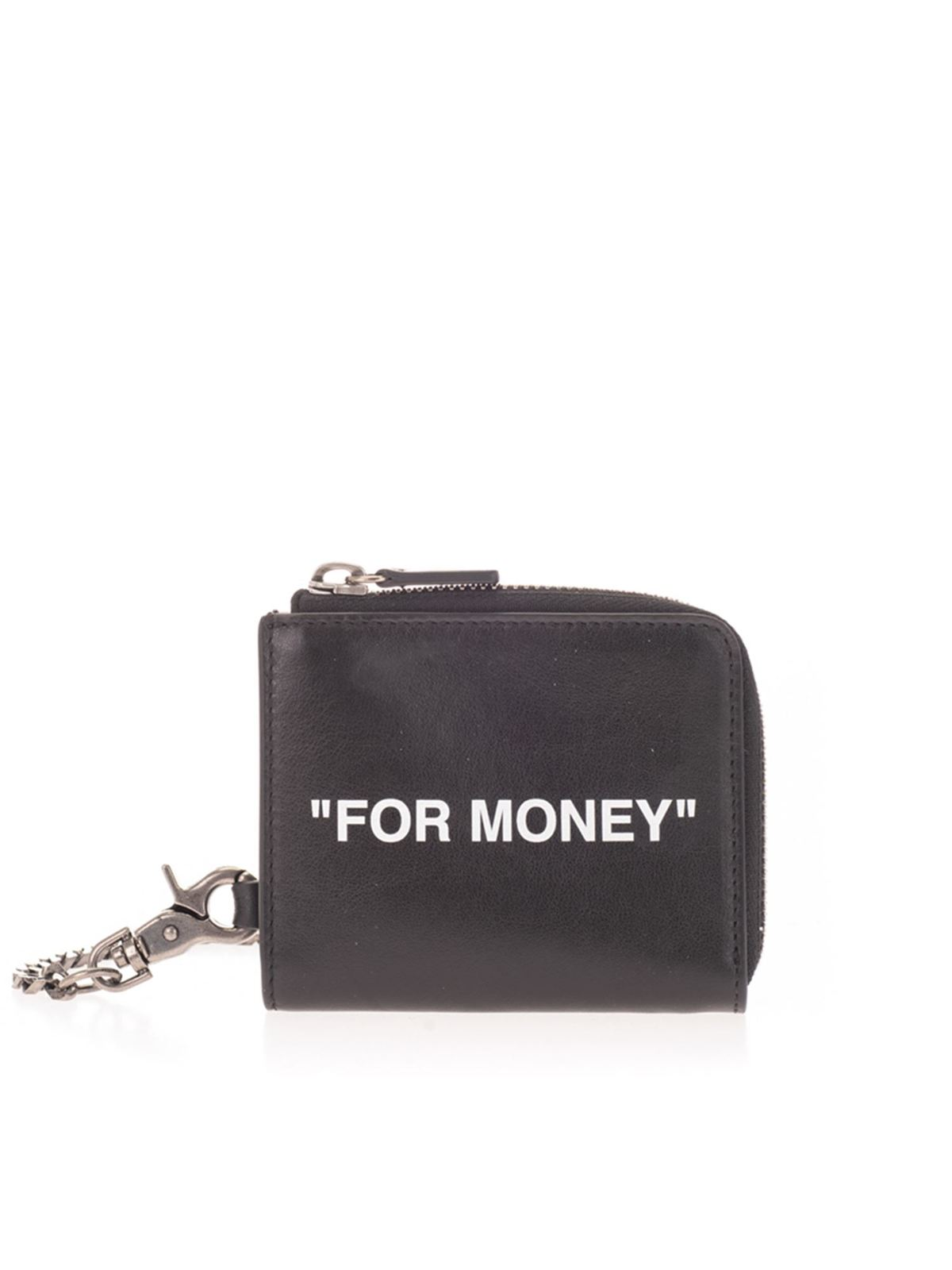 Off-White Wallets FOR MONEY COIN PURSE IN BLACK