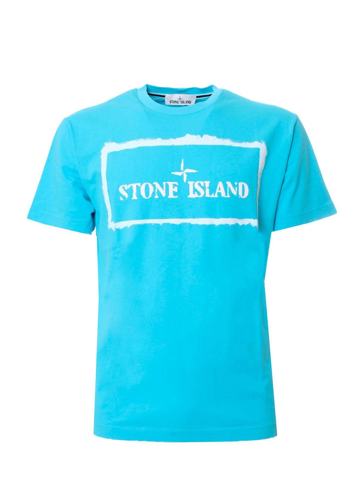 Stone Island LOGO T-SHIRT IN LIGHT BLUE
