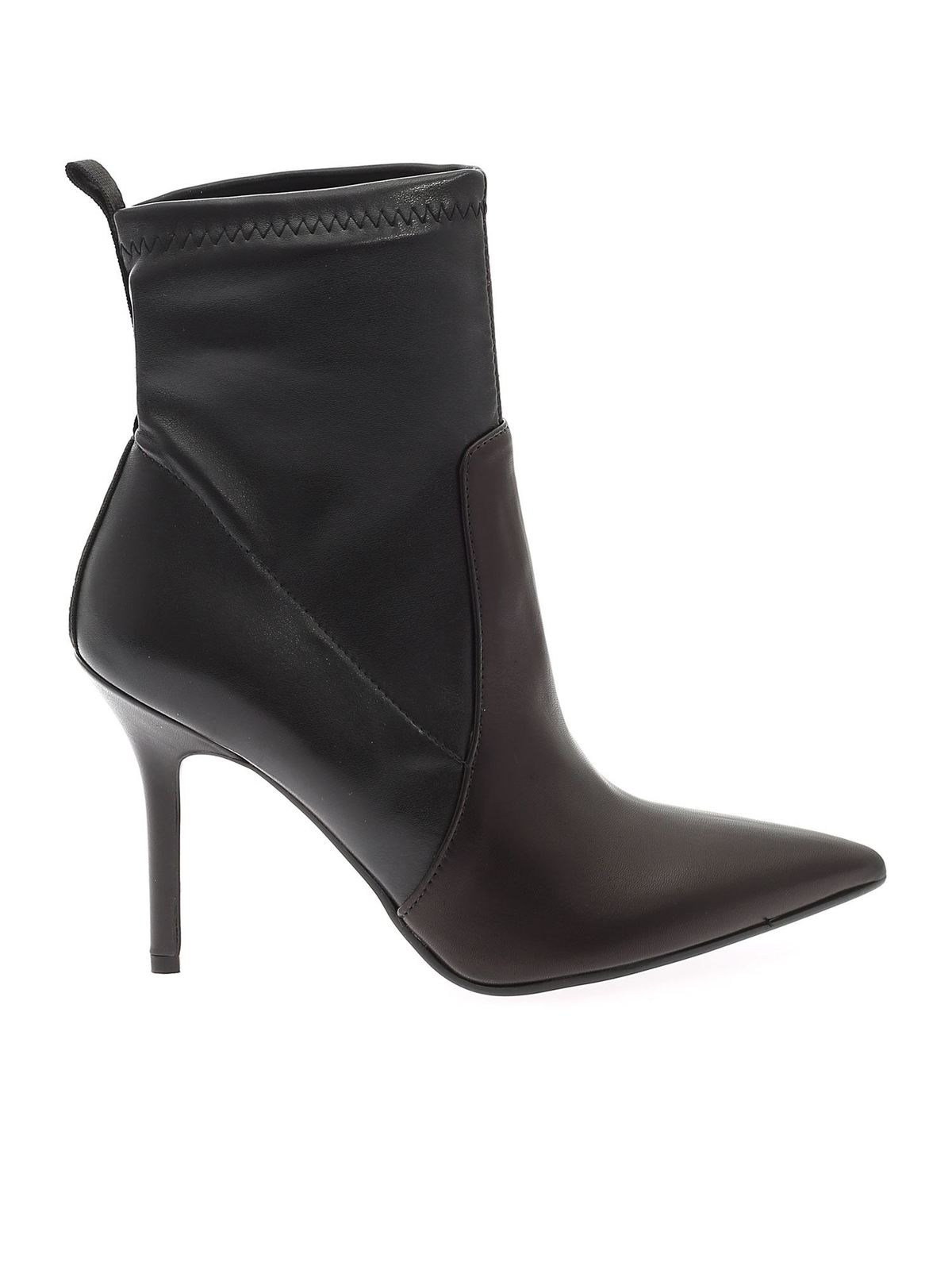 Karl Lagerfeld POINTED ANKLE BOOTS IN BLACK
